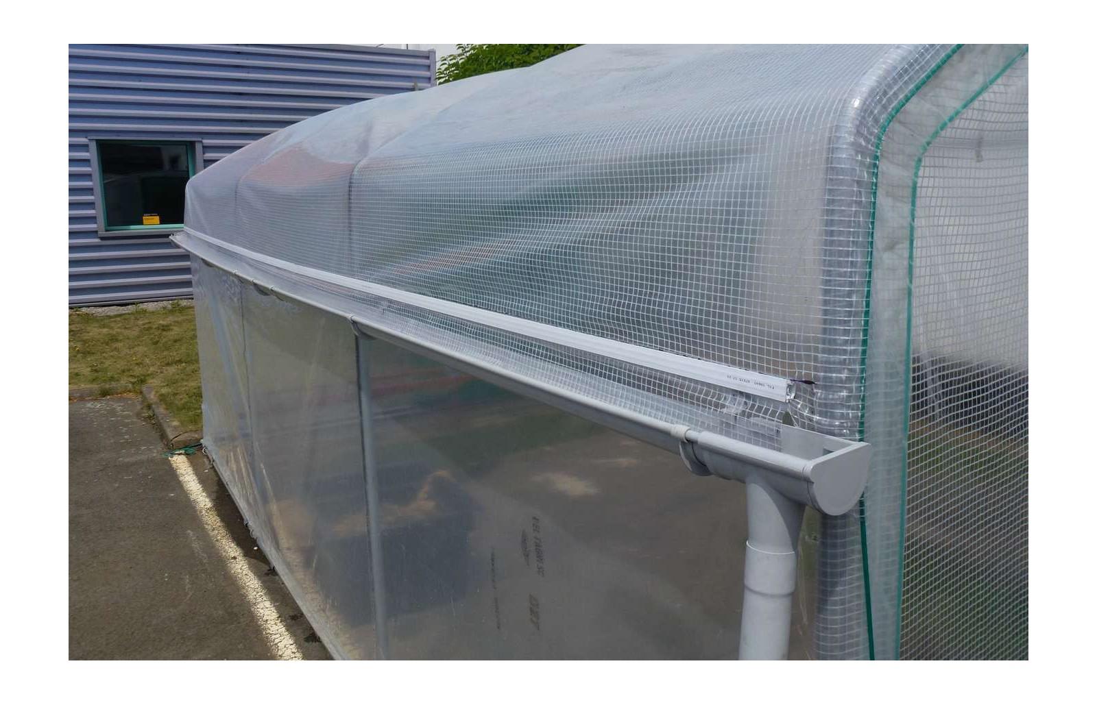 kit recuperation d 39 eau de pluie 2 longueurs serre jardiniere long 4m00 serres tonneau. Black Bedroom Furniture Sets. Home Design Ideas
