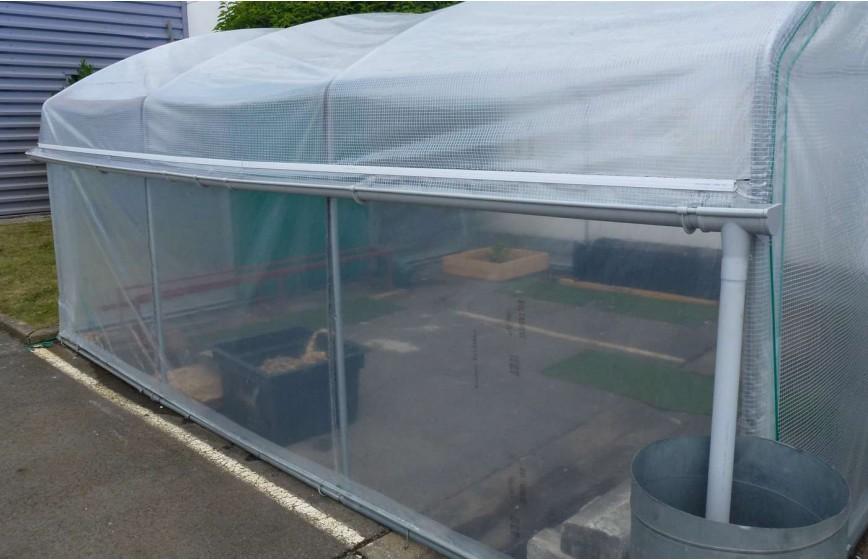 Kit récupération d'eau de pluie -1 longueur- serre Mini Long. 6m00