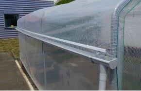 Kit récupération d'eau de pluie -2 longueurs- serre Mini Long. 4m50