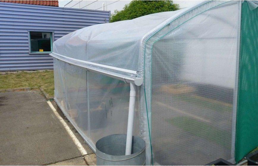 Kit récupération d'eau de pluie -2 longueurs- serre Mini Long. 9m00