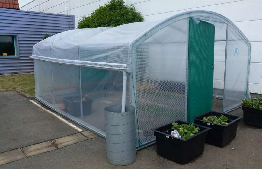 kit recuperation d 39 eau de pluie 2 longueurs serre abri legumes long 6m00 serres tonneau. Black Bedroom Furniture Sets. Home Design Ideas
