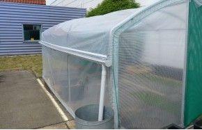 Kit récupération d'eau de pluie -2 longueurs- serre 4 Saisons Plus Long. 6m00