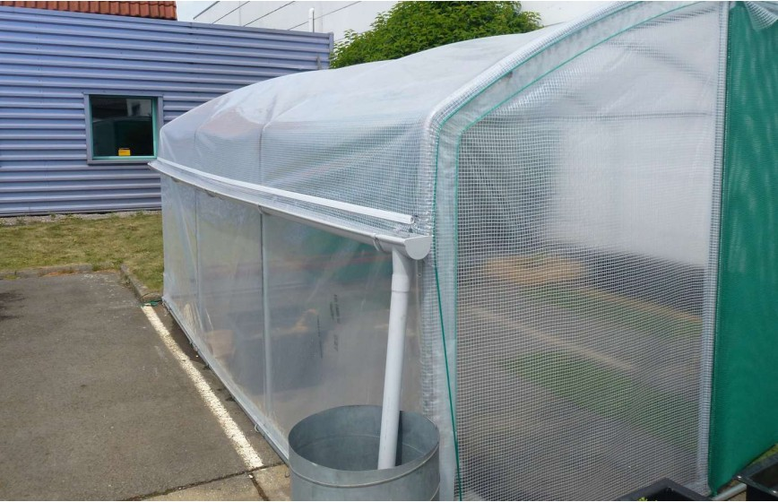 Kit récupération d'eau de pluie -2 longueurs- serre 4 Saisons Plus Long. 10m50