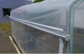 Kit récupération d'eau de pluie -1 longueur- serre Gothique Long. 9m00